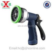 9-Pattern Selectable Spray Head Aluminum Pistol Water Nozzle