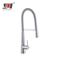 Superior quality sink mixer tap bow brass stainless steel pull out faucet kitchen for vessel sinks