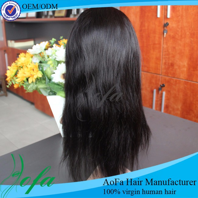 good desinty 7A straight full lace human hair wig