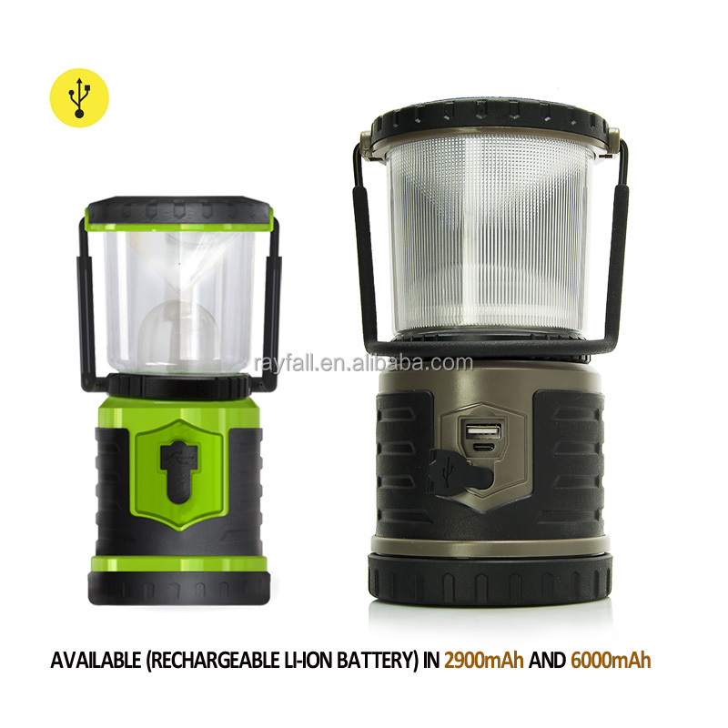 Portable USB Hand crank Rechargeable led solar camping lantern