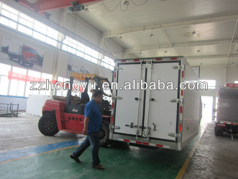 Cheap american cargo truck bodies/refrigerated truck box bodies for sale