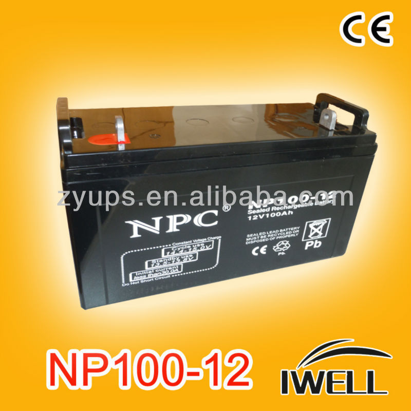 Sealed maintenance-free battery 12v 100ah Base Inverter Battery