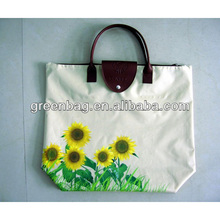 Supermarket polyester shopping folding bag