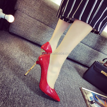 Gradually changing color womens fashion shoes latest design point stud heels high premium brand women shoe