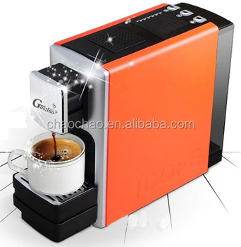 Capsule coffee machine capable for different capsule