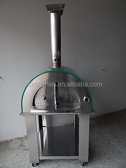 Full stainless steel wood fired pizza oven