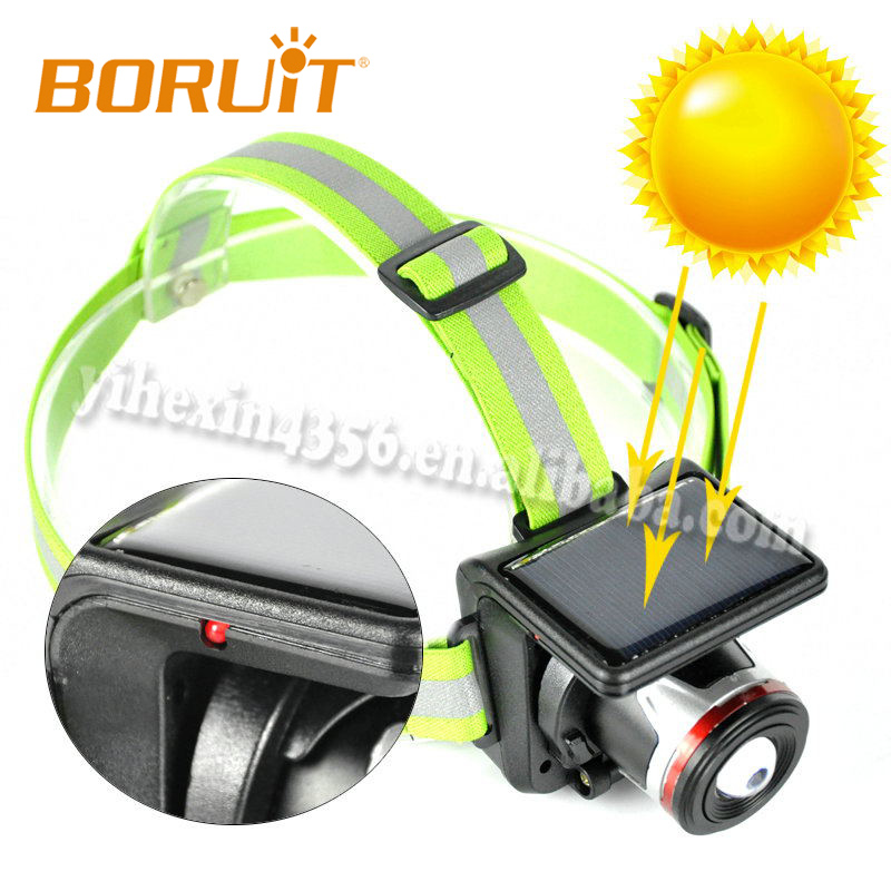 Boruit T855 Aluminum Alloy Mini Solar Headlight