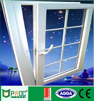 France Style Wooden Grain Aluminum Single Glazed Window/Tilt and Turn Windows With Blinds Hot Sale