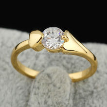 platinum love bands ring gold plated,imitation diamond wedding ring sets(AM-J27054)