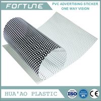 Advertising PVC Sticker One Way Vision