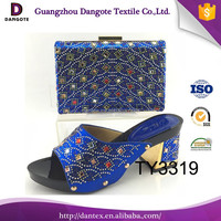 2016 Dangote Nigeria hot sale italian matching shoes and bags/women dress shoes for party TY3119