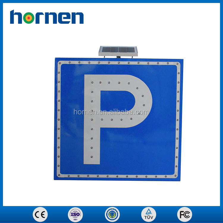 Solar powered 12v/8ah led traffic parking sign