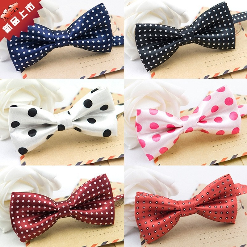 Hot Sale colorful kids bow tie polk dot boy bow tie in Children's accessories BT-2