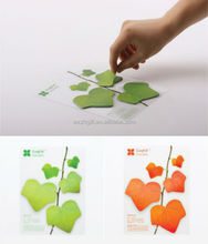 new arrival green leaf shaped sticky notes