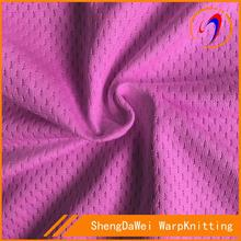 Plastic mesh fabric for clothing in knitted fabric
