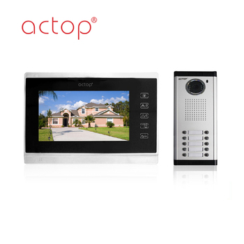 China factory ACTOP 4-wire video door bell for 10 apartments
