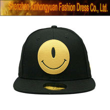 embroidery flat bill black snapback