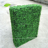 BOX017 GNW plastic fake artificial hedge fence artificial plant for fence garden decoration