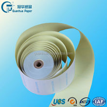 multi-ply carbonless copy paper roll
