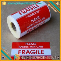Printing High Quality Custom Adhesive Paper Self Adhesive Fragile Labels