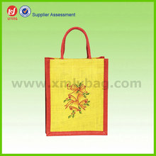 Nature Color Jute Tote Bag for Wine