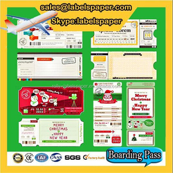 Alibaba top selling OEM boarding pass,luggage label