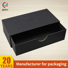 Best Selling wholesale Products custom perfume Jewelry Storage Boxes Black Cardboard Paper Sliding Drawer Packaging Box Gift