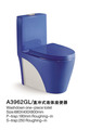 A3962 Double colors toilet washdown one piece toilet equipment