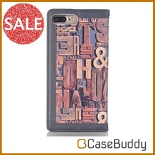 Casebuddy for iphone 7 leathe case wallet Fresh Pastoral stand style