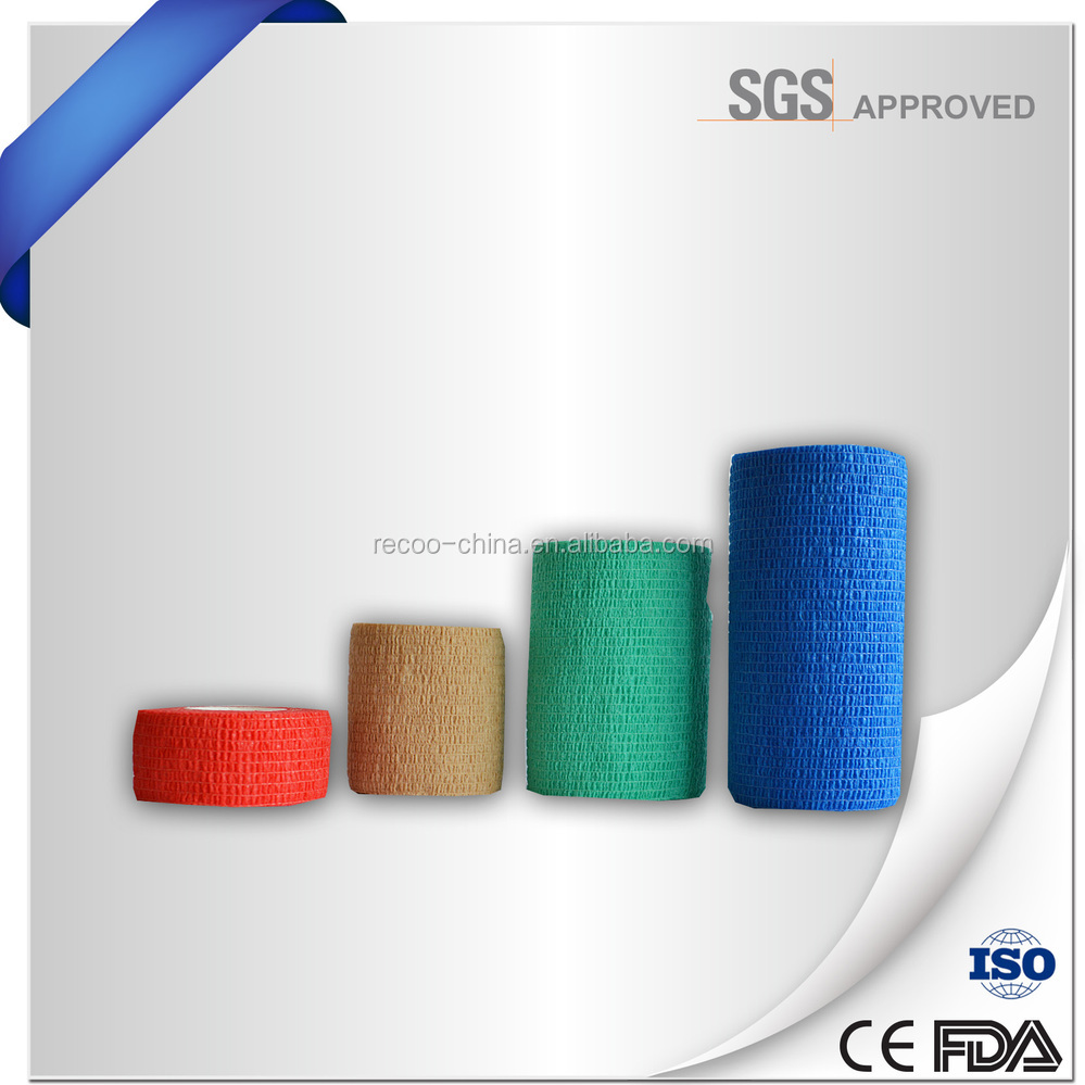 CE ISO FDA Approval High Quality Non-woven Cohesive Elastic Bandage/Pet Bandage