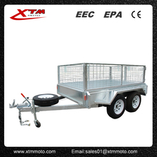 Top Sale Utility dual axle box trailer kits with cage
