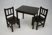 Hot selling kid's dinning table and chairs kid's wooden table and chairs
