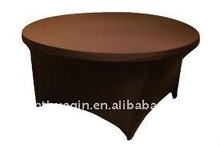 Spandex table cover for banquet Lycra table cover durable spandex lycra table cover with leather leg pockets