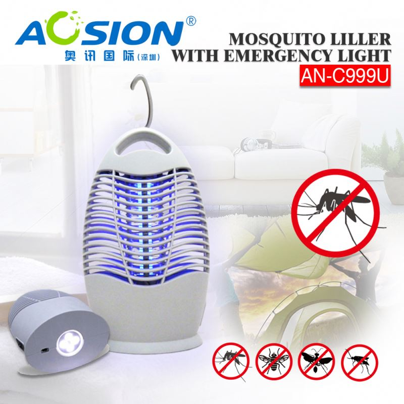 Aosion Brand BSCI Quality Assurance battery zapper fly catcher with LED light