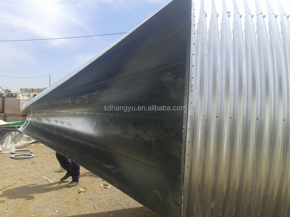 Livestock poultry feed storage silo for automatic feeding system