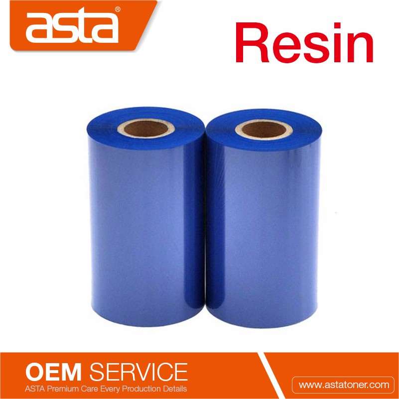 Blue Printer Ribbon Resin Thermal Transfer Ribbon For TSC Printer