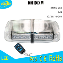 24W LED super-power magnetic base roof strobe light with remote controller for vehicle emergency warning