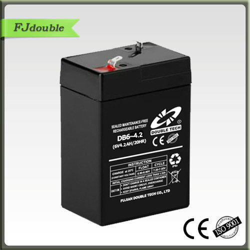 6v 4.2ah maintenance free ups battery for lights