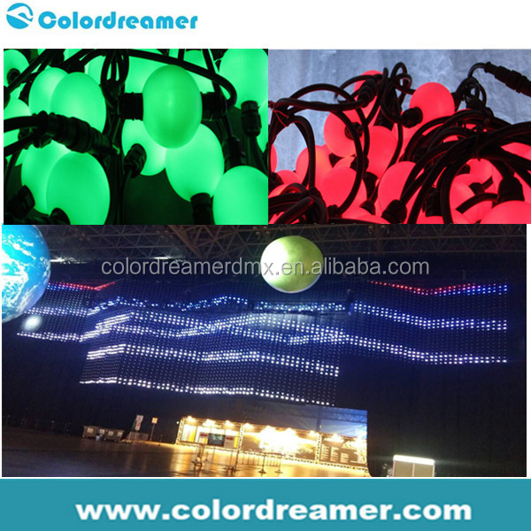 Colordreamer dmx 512 madrix music control Color changing RGB 3D disco ball for the club, stage and bar