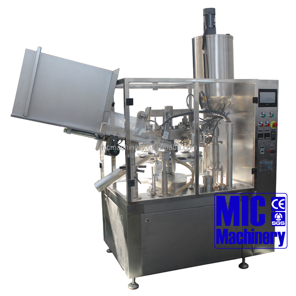 MIC-R60 automatic tube filler hot air sealing method plastic tube filling and sealing machine