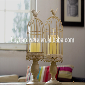 Qualified European fashional candle holder bird cage lantern, Tea light bird cage candle holder metal wire lantern