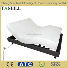 Wireless control adjustable bed electric frame with massage