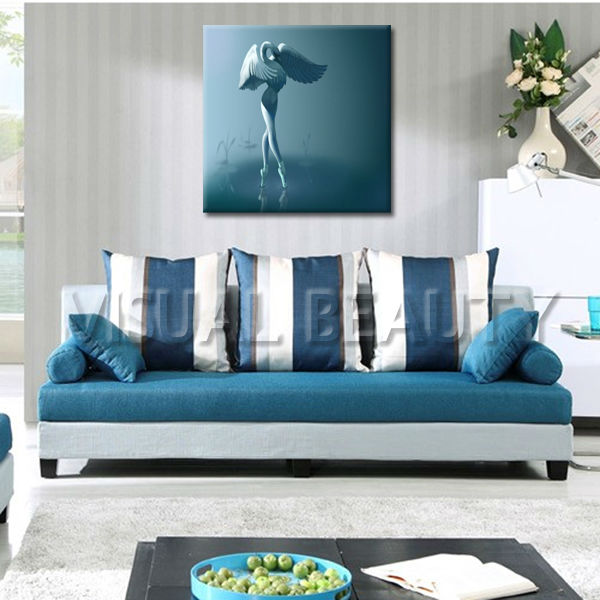 Abstract Water Ballet Girl Canvas Painting Prints