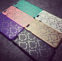 Chinese style lace pattern matte feel light weight plastic cell phone case for iPhone 6s plus