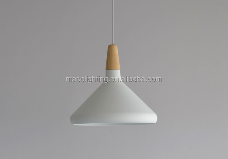 Nordic Modern pendant light Cone shape Wooden Pendant lamp Kitchen dining room Cafe Art decorative drop light fixture