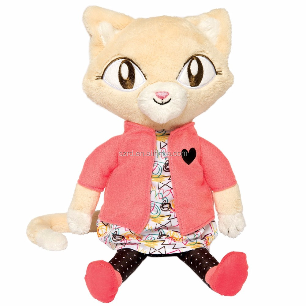 Alley Cat Club Jinx Soft Plush Toy/plush cat doll for kids/stuffed animal plush soft toy