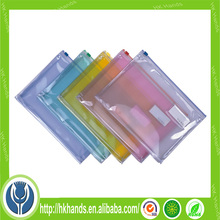clear pvc zipper bag/zipper bag for pillow/slider zipper bag