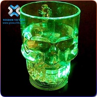 skull cup , OEM pvc resin skull shape wine glass crafts for Halloween plastic skull shape cup for drink