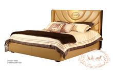 Modern hotel leather bed luxury bedroom furniture king size bed 2017
