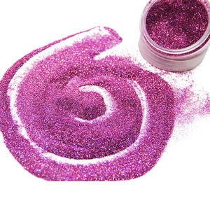 Various colorful glitter powder solvent resistance glitter for leather handbag